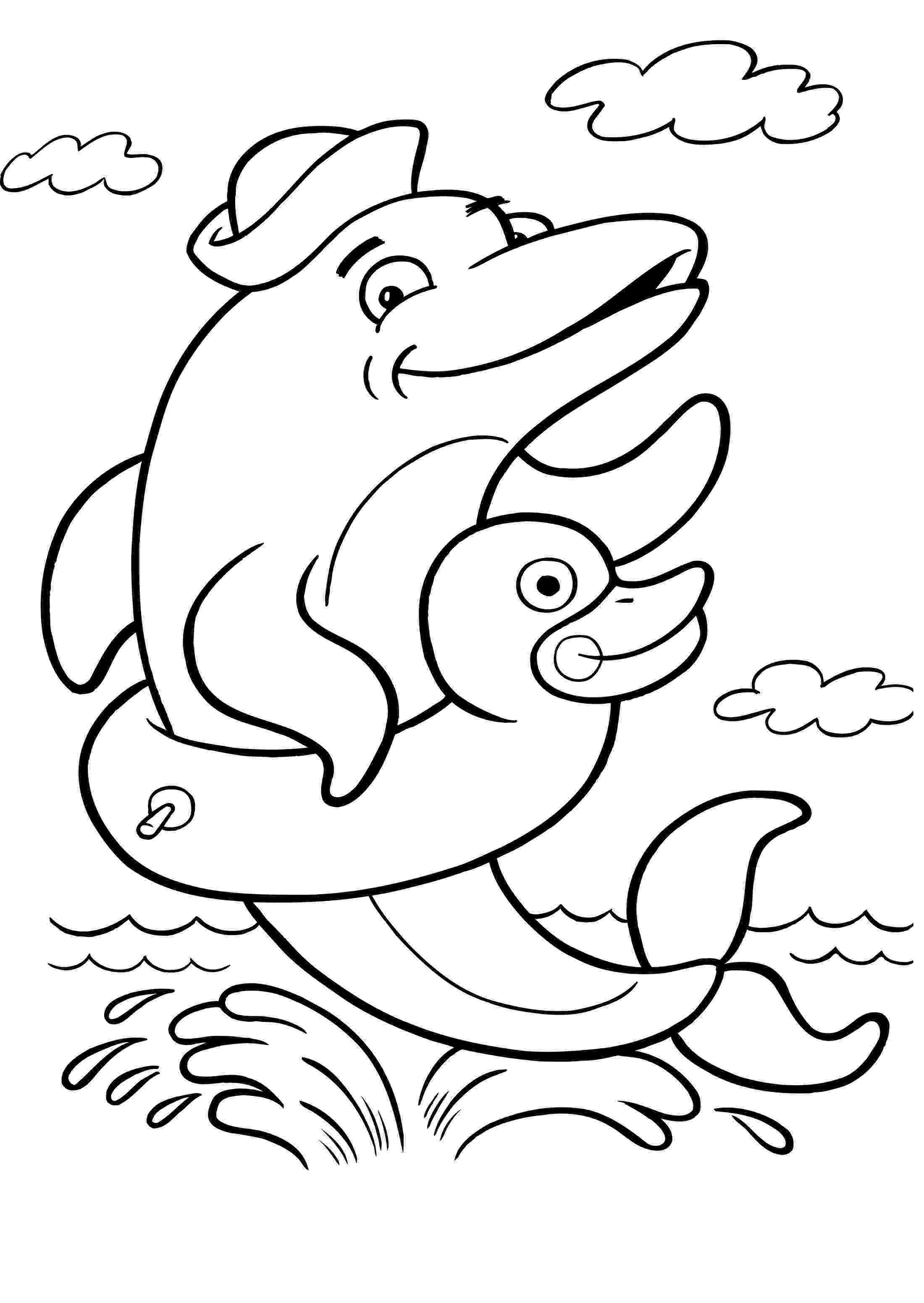 pictures of dolphins to color dolphin coloring pages download and print for free to pictures color dolphins of