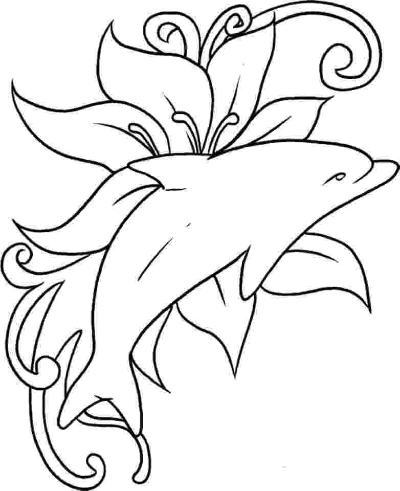 pictures of dolphins to color free printable dolphin coloring pages for kids of pictures dolphins to color