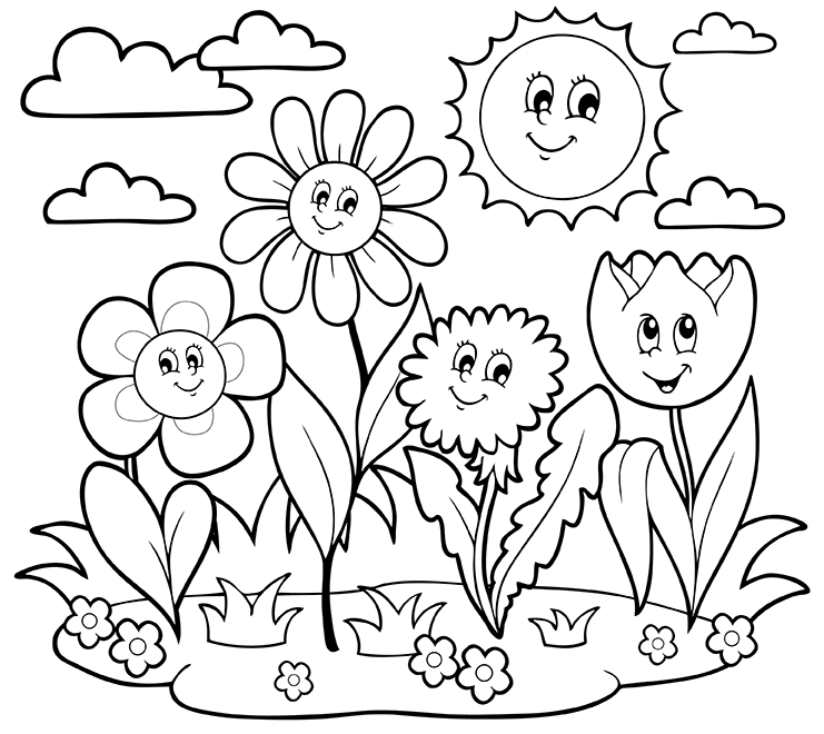 pictures of flowers coloring pages hummingbird in flowers coloring page free printable pages pictures of flowers coloring