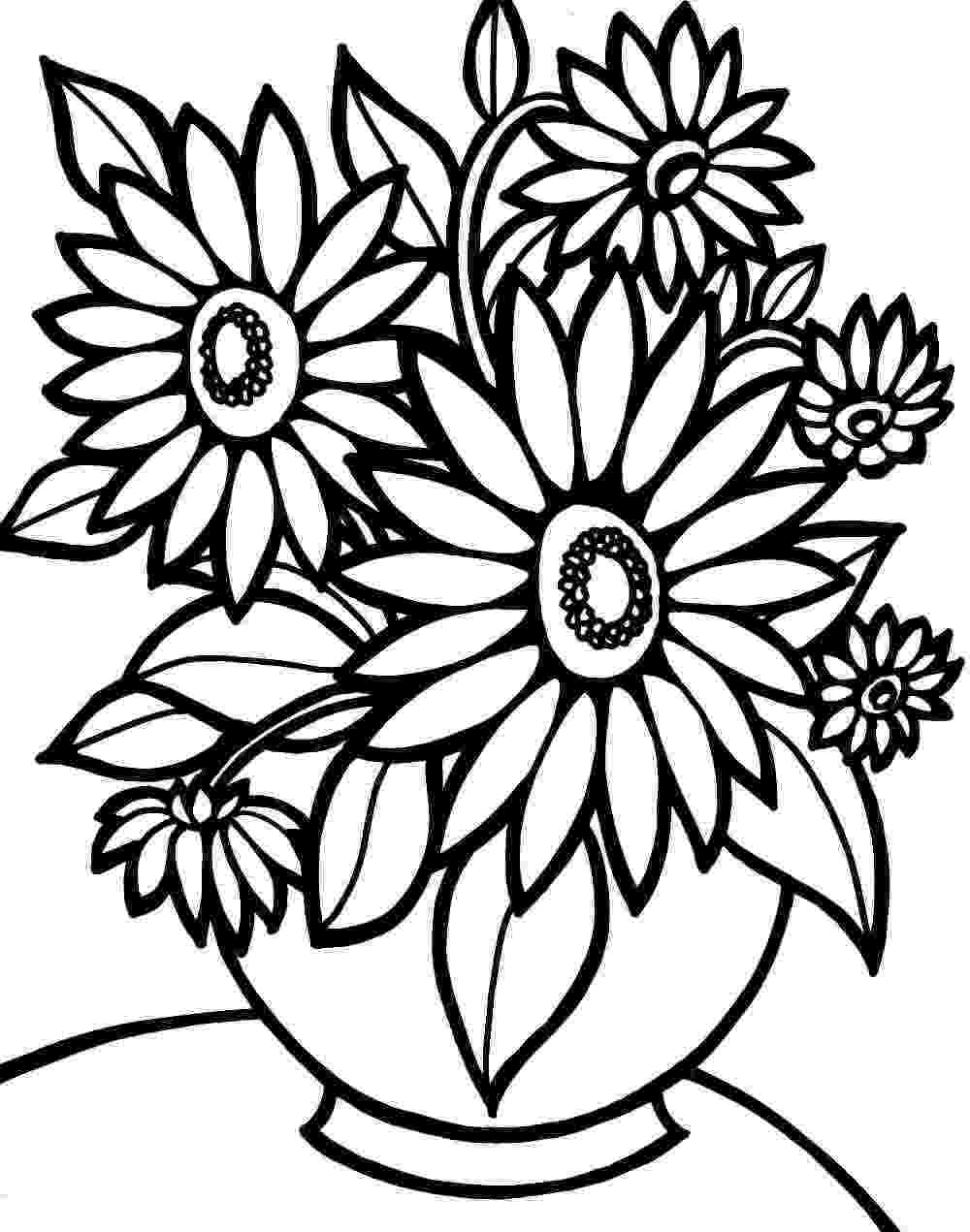 pictures of flowers to color free printables simple flower coloring pages getcoloringpagescom free flowers to pictures printables of color
