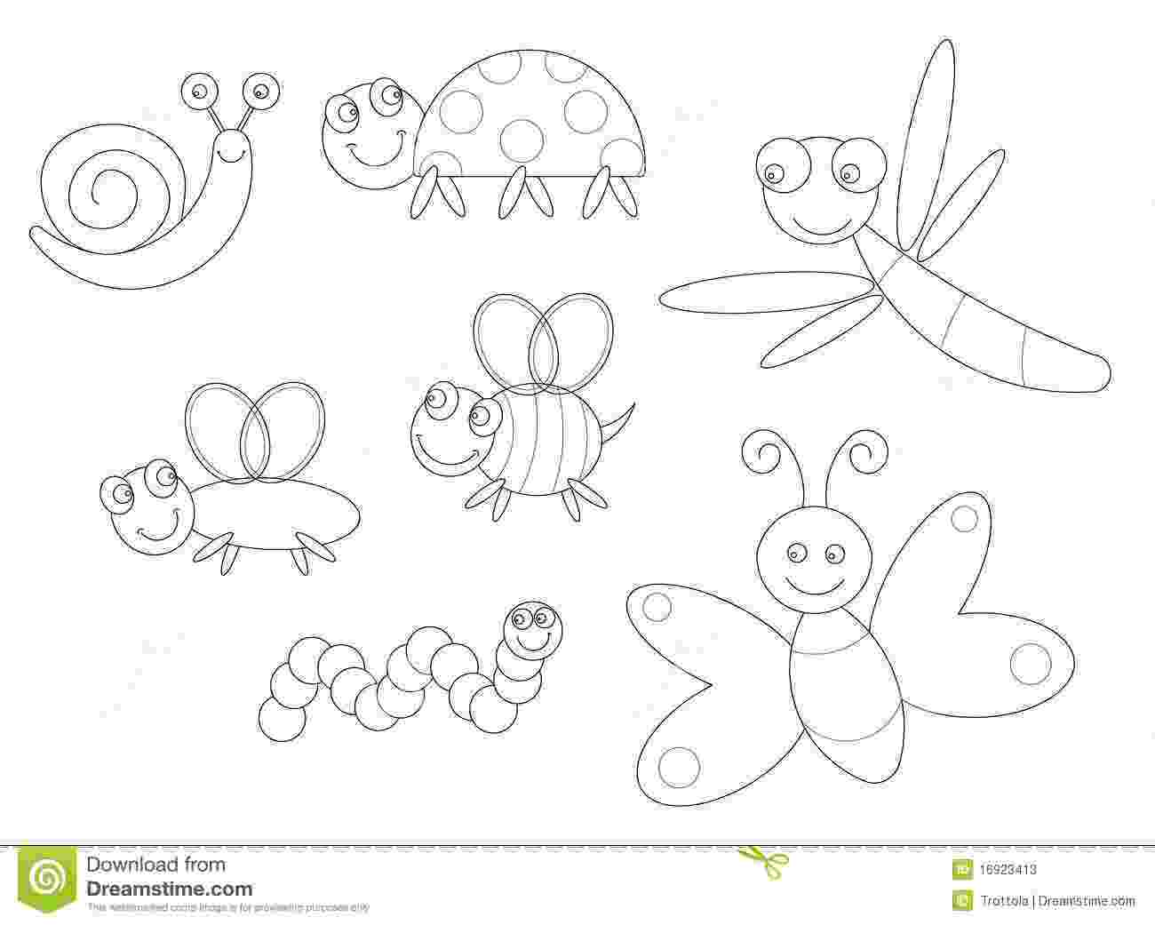 pictures of insects to color bugs coloring page stock illustration illustration of to color pictures of insects