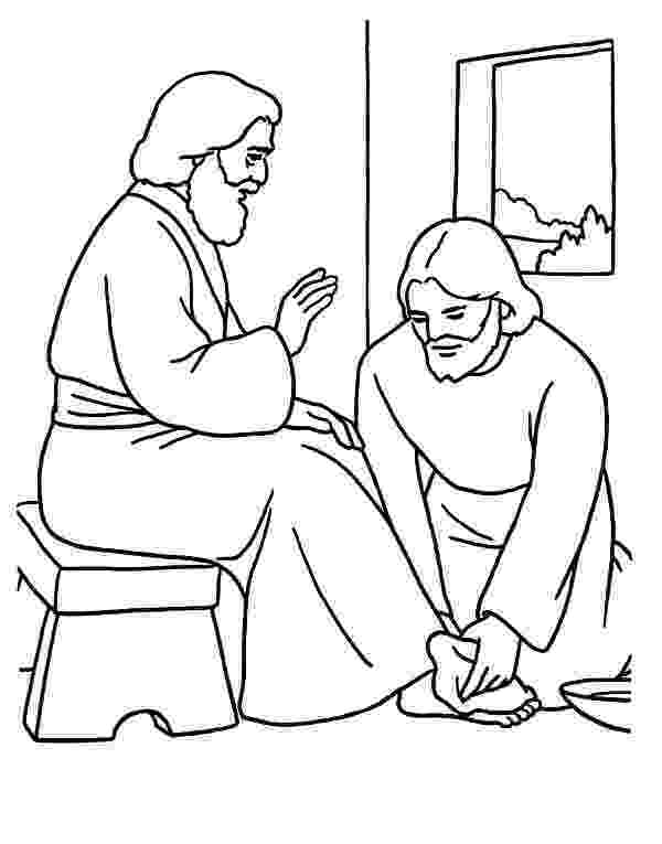 pictures of jesus washing feet bible story coloring page for jesus teaches about pictures of feet washing jesus