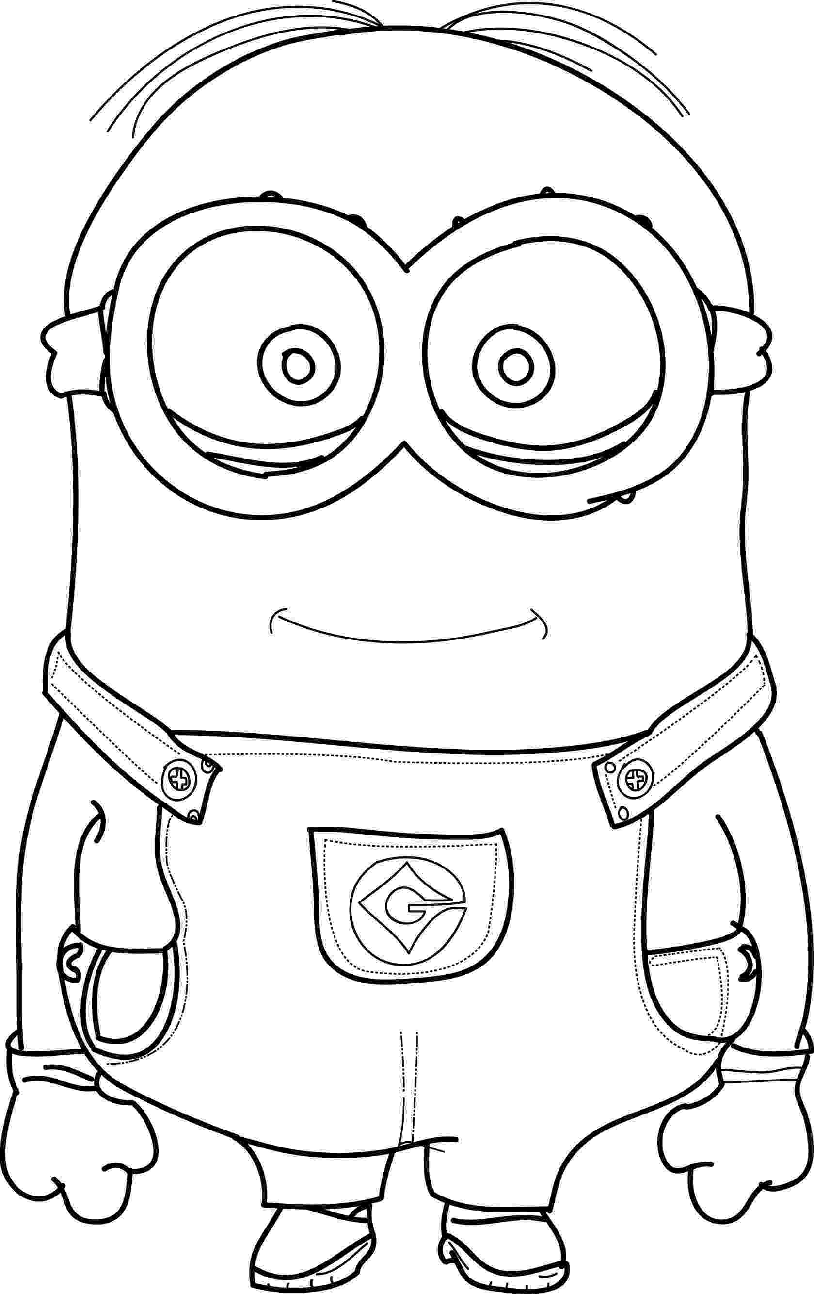 pictures of minions to color angry captain minion coloring page wecoloringpagecom pictures to of minions color