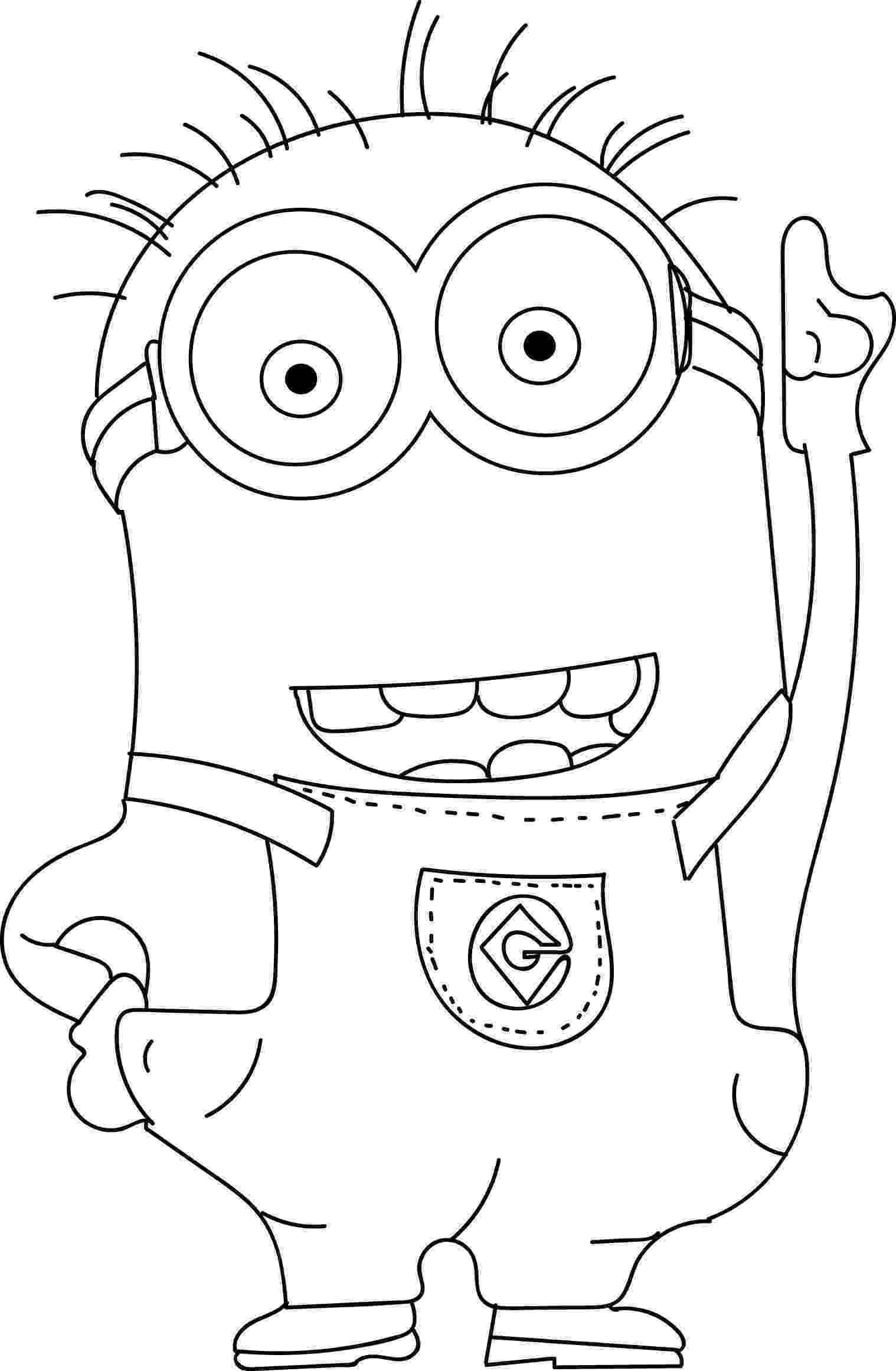 pictures of minions to color pictures of minions to color of color minions to pictures