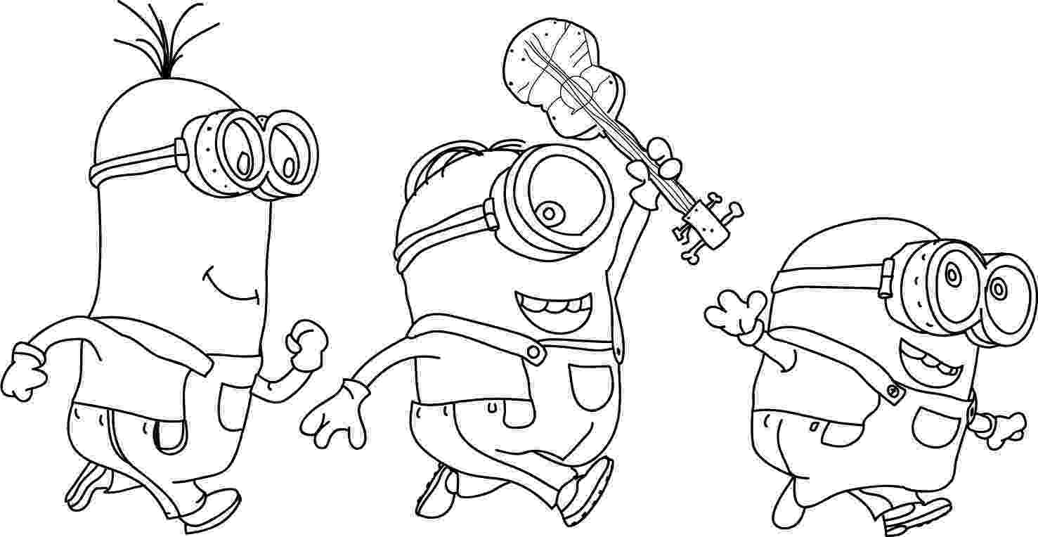 pictures of minions to color print download minion coloring pages for kids to have pictures to color of minions