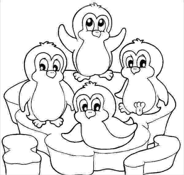 pictures of penguins to colour christmas penguin coloring pages learny kids penguins to pictures of colour
