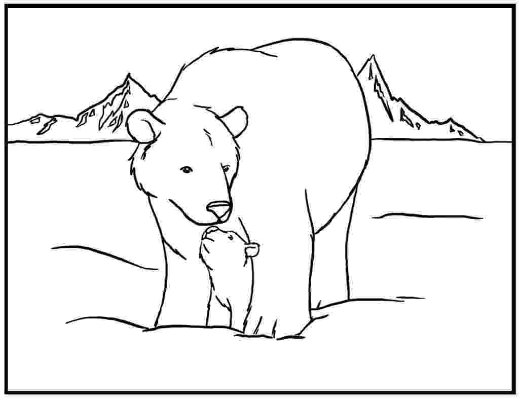 pictures of polar bears to color free printable polar bear coloring pages for kids polar bears to pictures color of