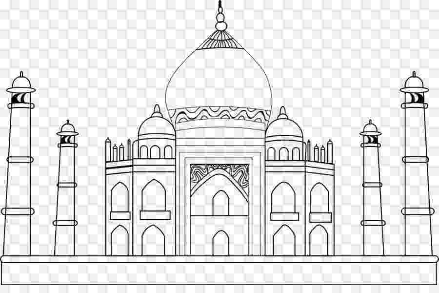 pictures of taj mahal to draw hand drawn taj mahal stock vector illustration of mahal of taj pictures draw to