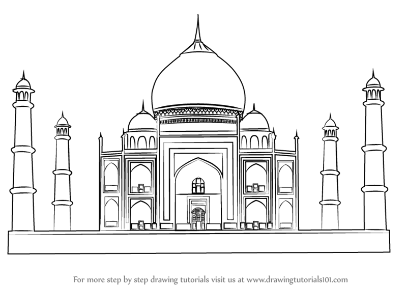 pictures of taj mahal to draw realistic drawing of taj mahal coloring page netart of pictures mahal taj to draw