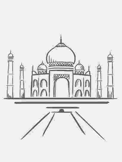 pictures of taj mahal to draw taj mahal architect by ahmad lauhari coloring page netart mahal of to draw taj pictures