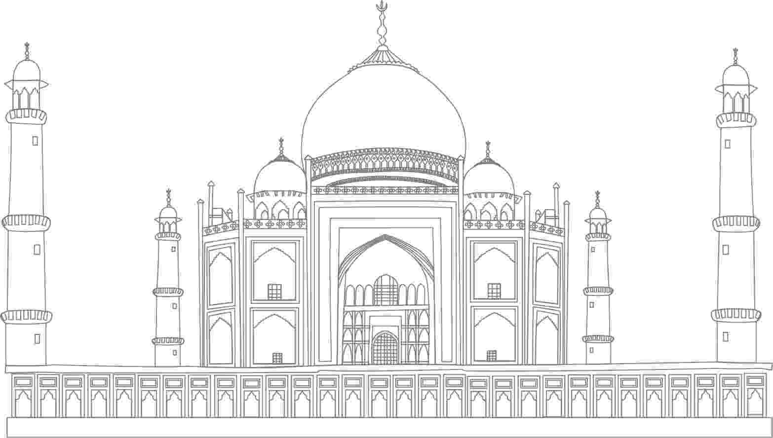 pictures of taj mahal to draw taj mahal drawing stock illustrations 342 taj mahal taj to mahal pictures draw of