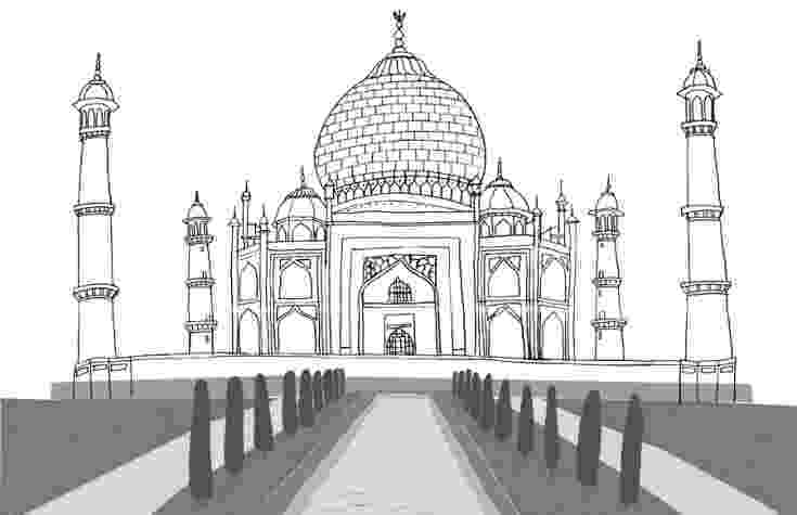 pictures of taj mahal to draw the 39crown39s palace39 is situated in agra indiafrom the of mahal taj draw pictures to