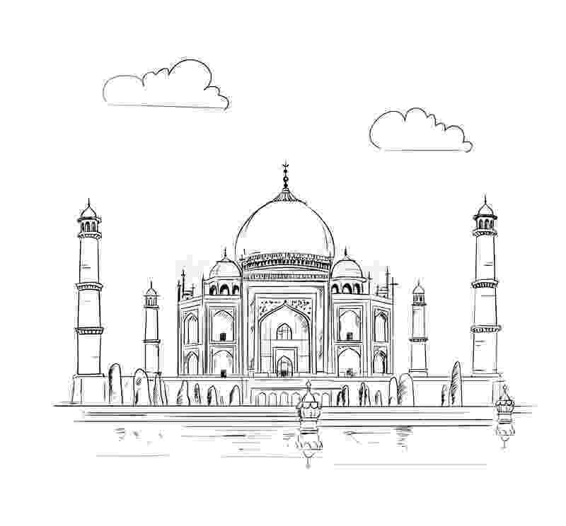 pictures of taj mahal to draw the amazing use of hatching and shading allowed for the to pictures mahal taj draw of
