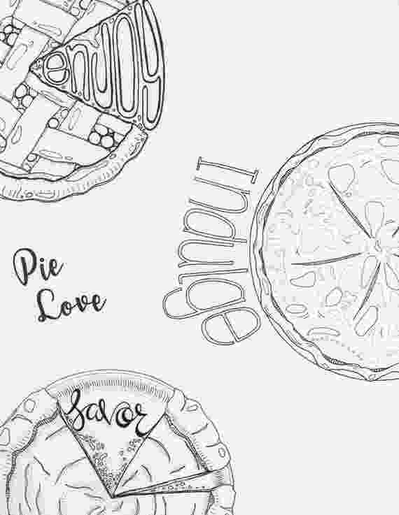 pie coloring page pie coloring pages 3 pack thanksgiving coloring autumn etsy pie page coloring