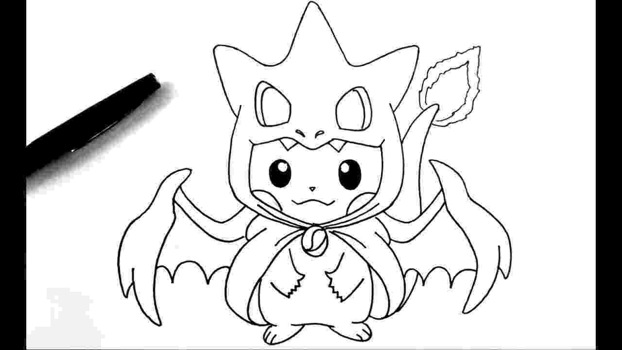 pikachu sketch dessiner pikachu dracaufeu pokémon youtube pikachu sketch