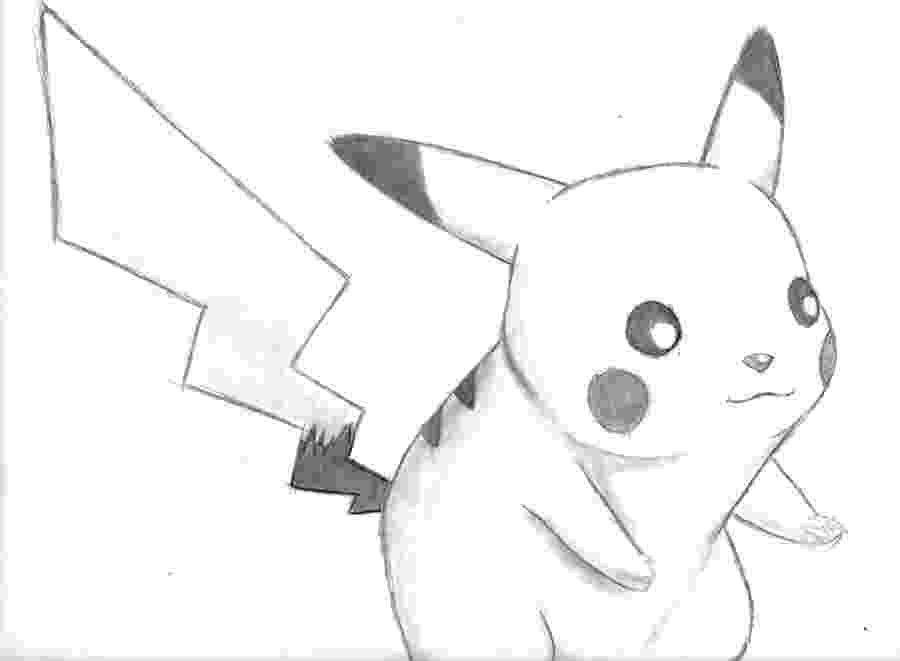 pikachu sketch how to draw pikachu from pokemon drawingforallnet sketch pikachu