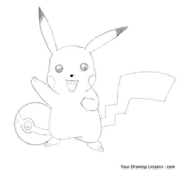 pikachu sketch how to draw pikachu from pokemon youtube pikachu sketch