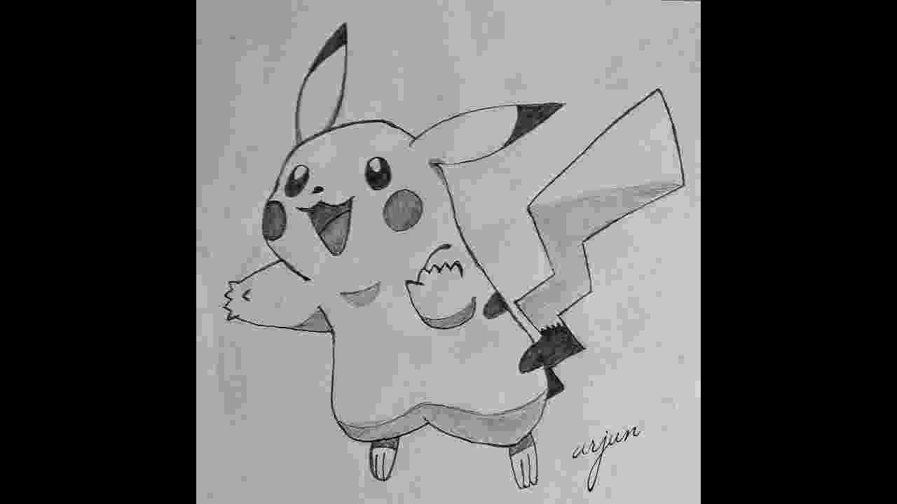 pikachu sketch learn how to draw pikachu from pokemon pokemon step by sketch pikachu