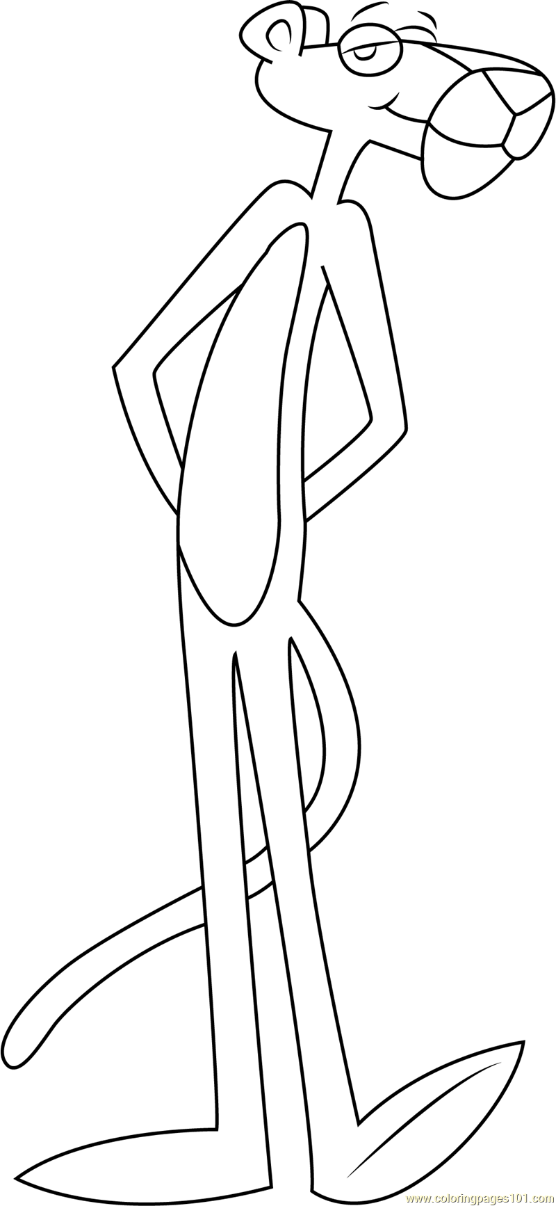 pink panther coloring games panther drawing outline at getdrawings free download games coloring panther pink