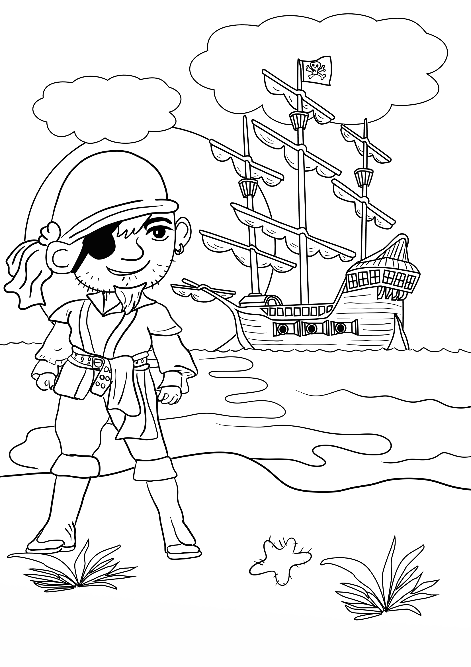 pirate coloring pages for kids free printable pirate coloring pages for kids pages kids coloring pirate for
