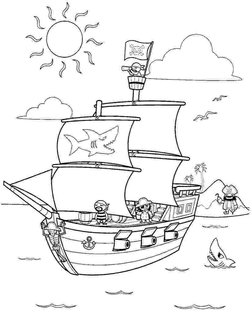 pirate coloring pages for kids pirate coloring sheets pirate kids for coloring pages