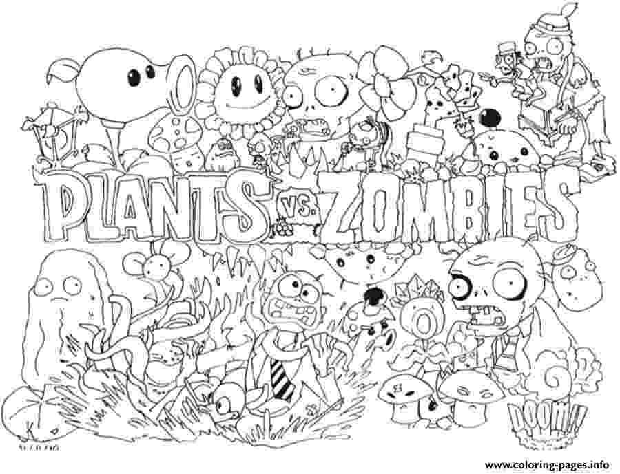 plants vs zombie pictures free plants vs zombies printable coloring pages download pictures vs plants zombie