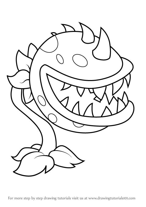 plants vs zombie pictures learn how to draw chomper from plants vs zombies plants pictures zombie vs plants