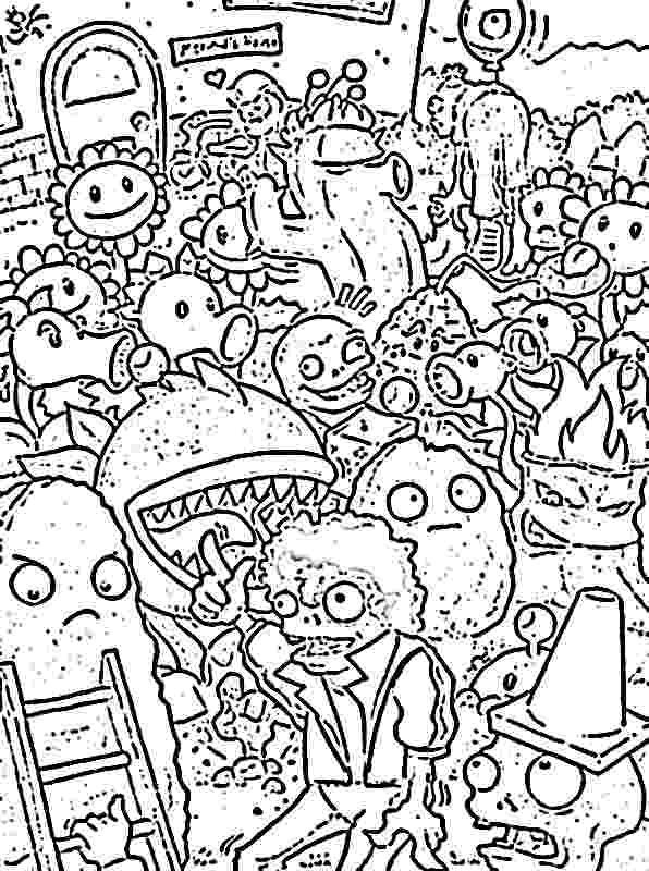 plants vs zombie pictures plants vs zombies coloring pages coloring home vs plants pictures zombie