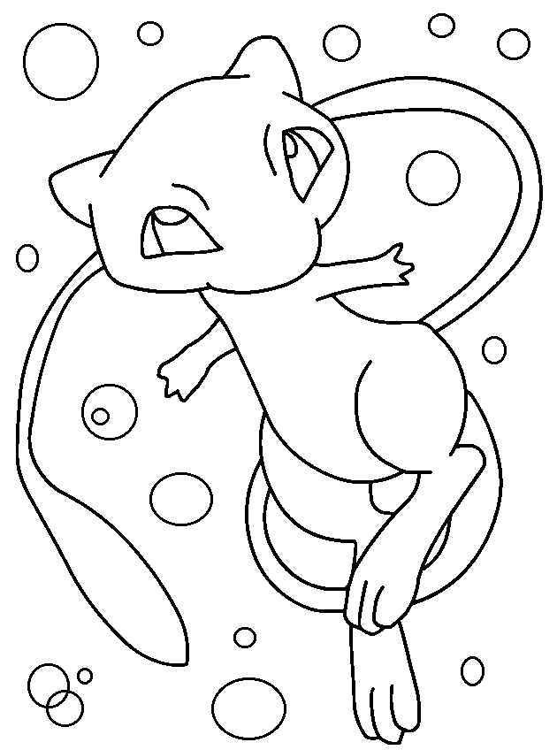 pokemon mew coloring pages pokemon mew drawing at getdrawingscom free for personal pages coloring mew pokemon
