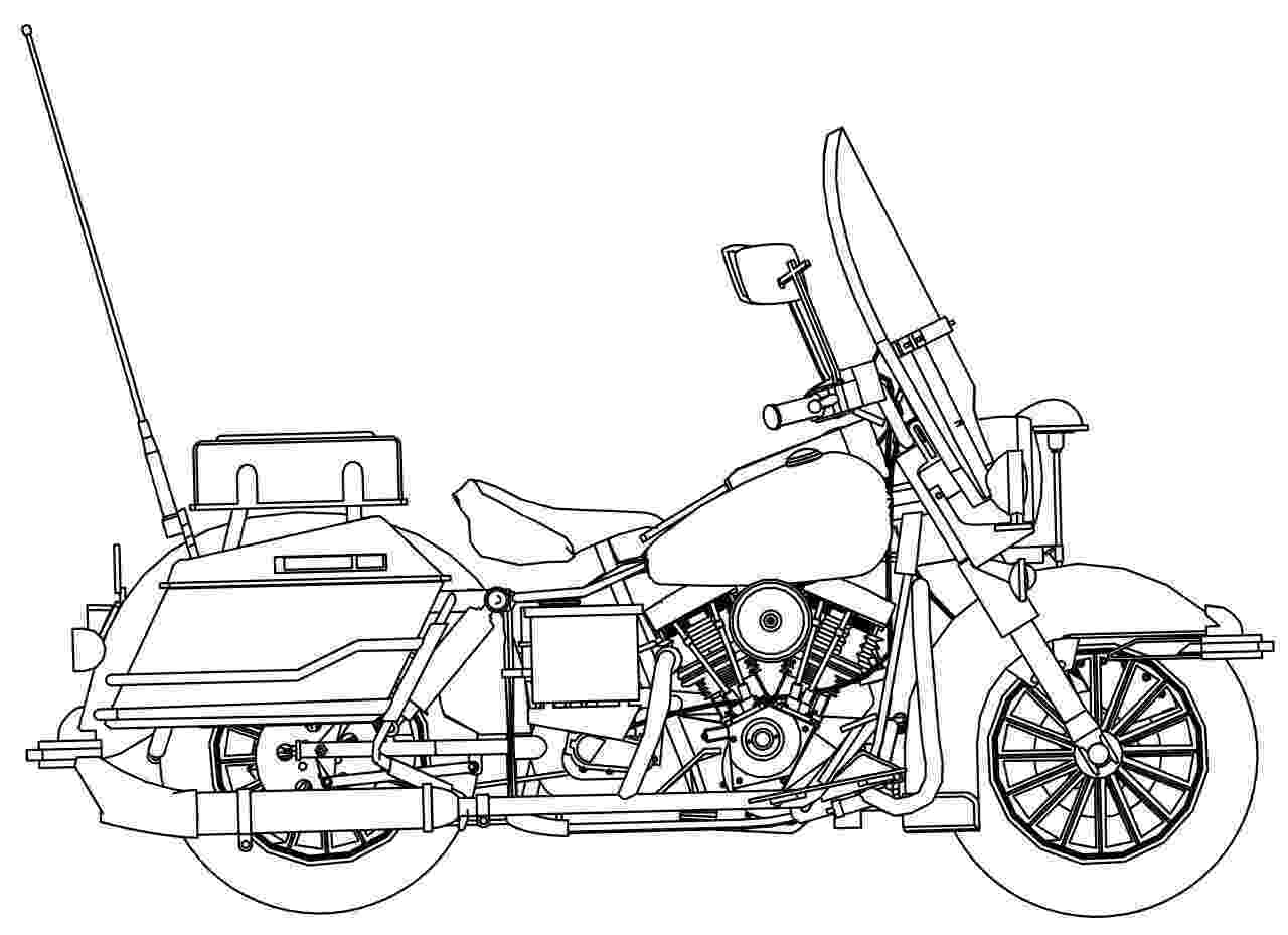 police motorcycle coloring pages harley davidson police motorcycle side coloring page police motorcycle coloring pages