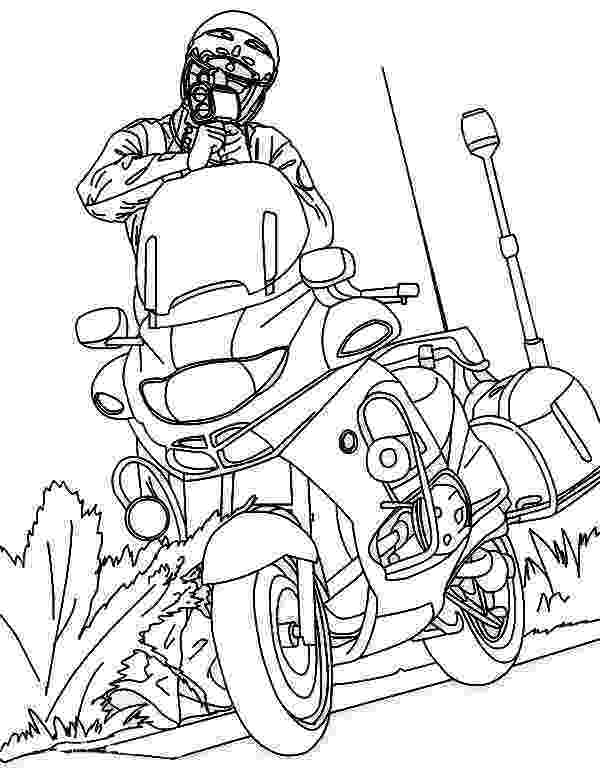 police motorcycle coloring pages motorbike drawing outline at getdrawingscom free for motorcycle pages coloring police
