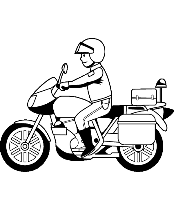 police motorcycle coloring pages motorcycle easy drawing at getdrawingscom free for motorcycle coloring police pages