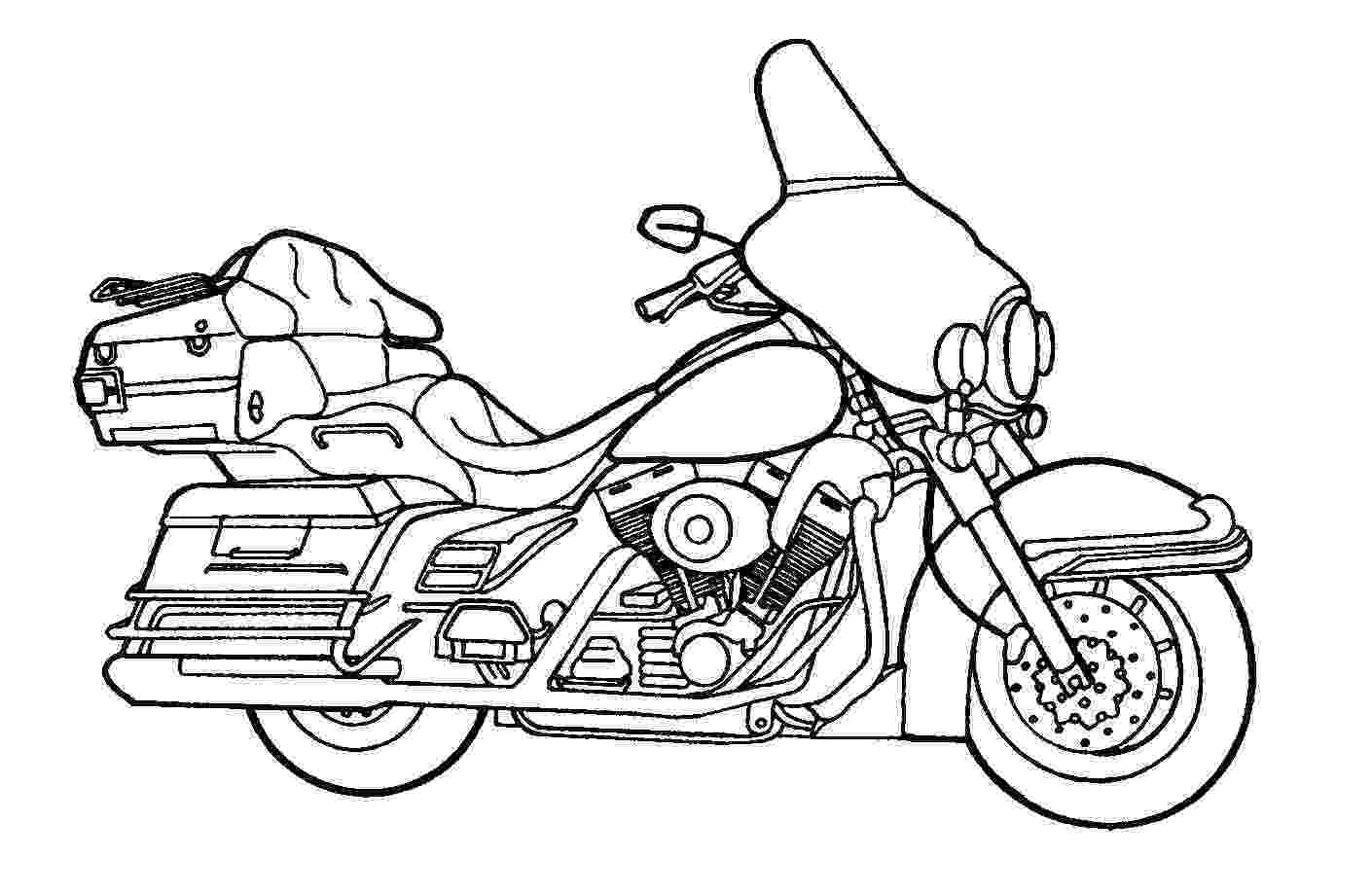 police motorcycle coloring pages printable motorcycle coloring pages for preschoolers motorcycle police pages coloring