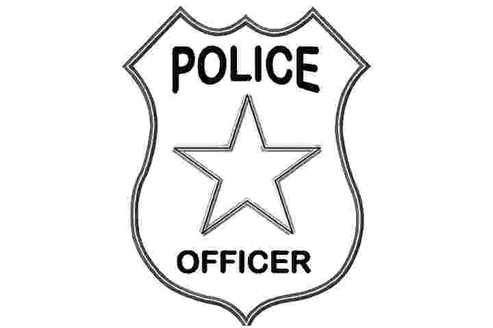 police officer badge coloring page 10 best police police car coloring pages your toddler coloring police badge page officer