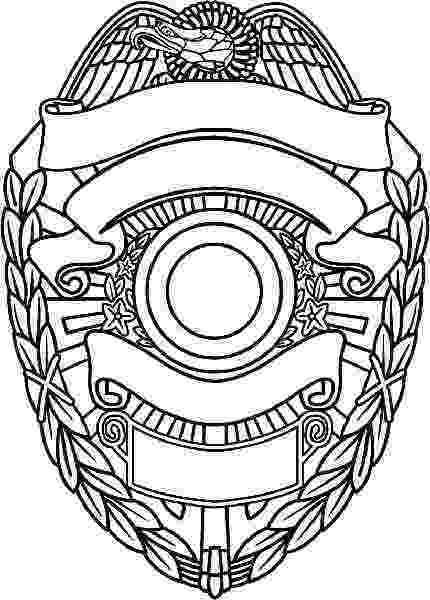 police officer badge coloring page police badge clipart black and white free download best police page coloring badge officer