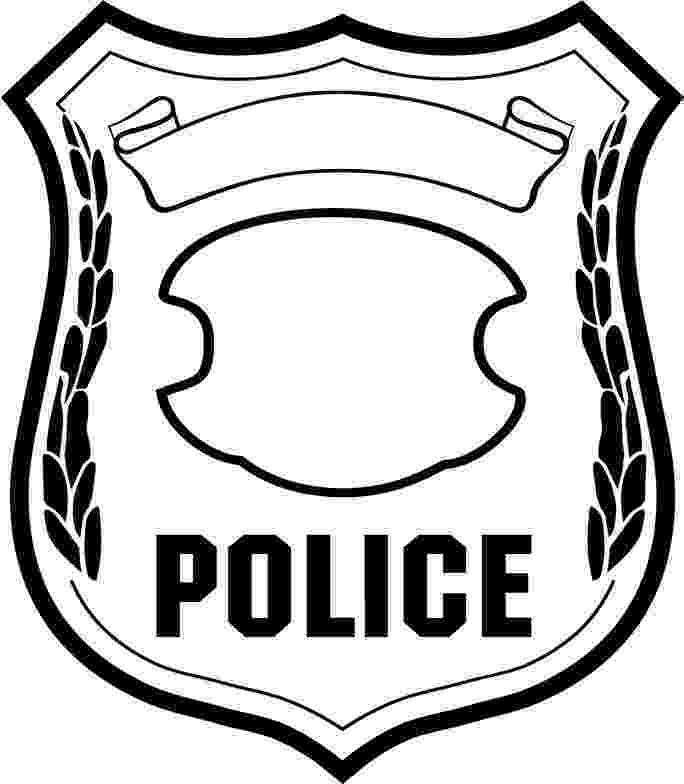 police officer badge coloring page police coloring pages getcoloringpagescom officer badge coloring page police