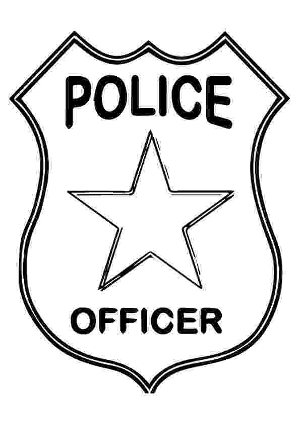 police officer badge coloring page police officer badge coloring page free printable officer page police badge coloring
