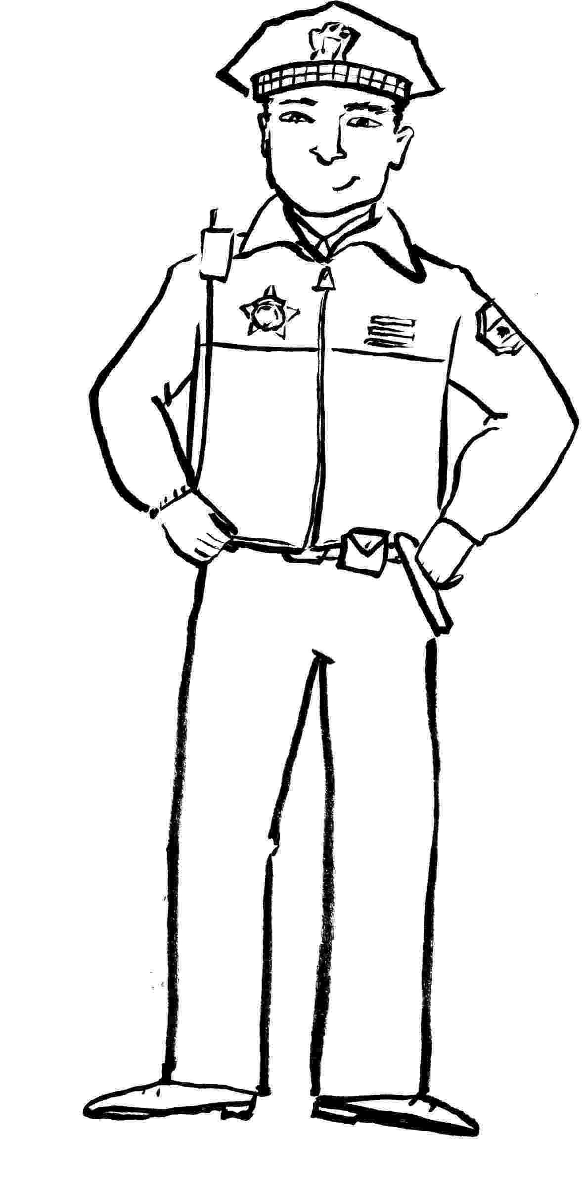 police pictures to color police officer coloring page free printable coloring pages color pictures police to