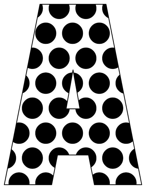 polka dot letters die cut letters for bulletin boards white black polka polka letters dot