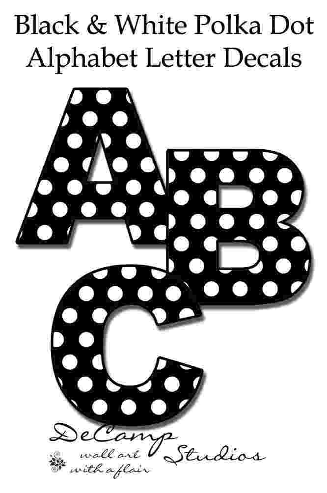 polka dot letters printable cut out letters a z letters dot polka