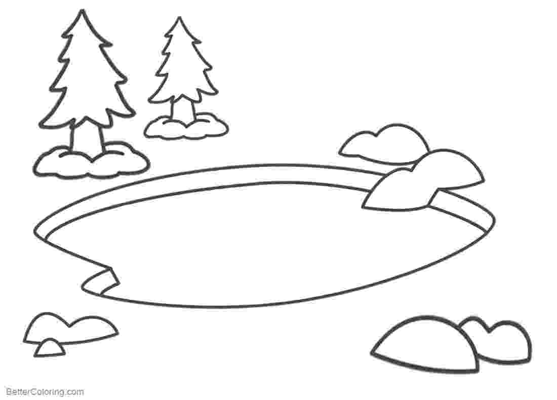 pond coloring page pond coloring pages simple clipart free printable page pond coloring