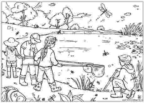 pond coloring page pond dipping colouring page coloring page pond