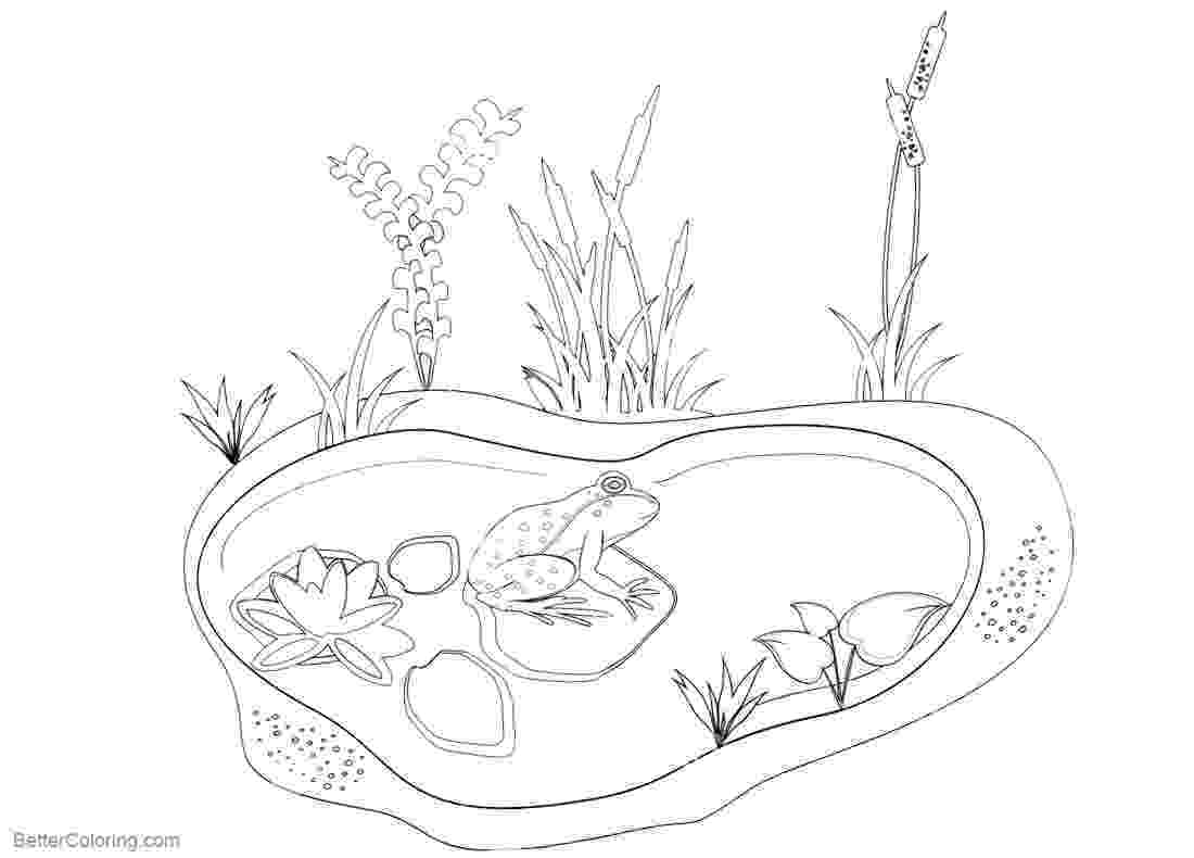 pond pictures to color froggie umbrella coloring page wee folk art to color pond pictures