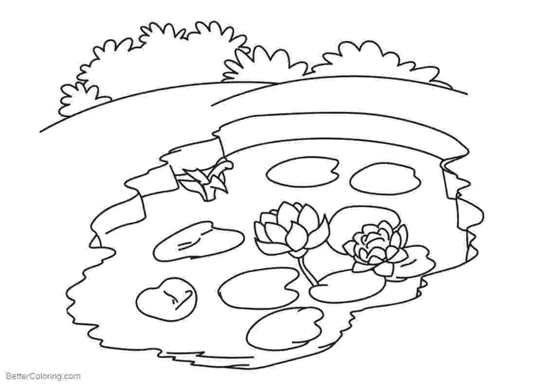 pond pictures to color pond coloring page twisty noodle color to pictures pond