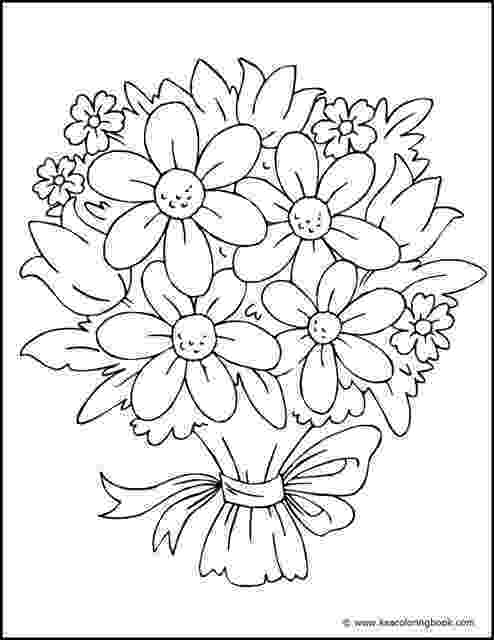 pretty flowers coloring pages bouquet of flowers coloring page this pretty coloring pretty coloring flowers pages