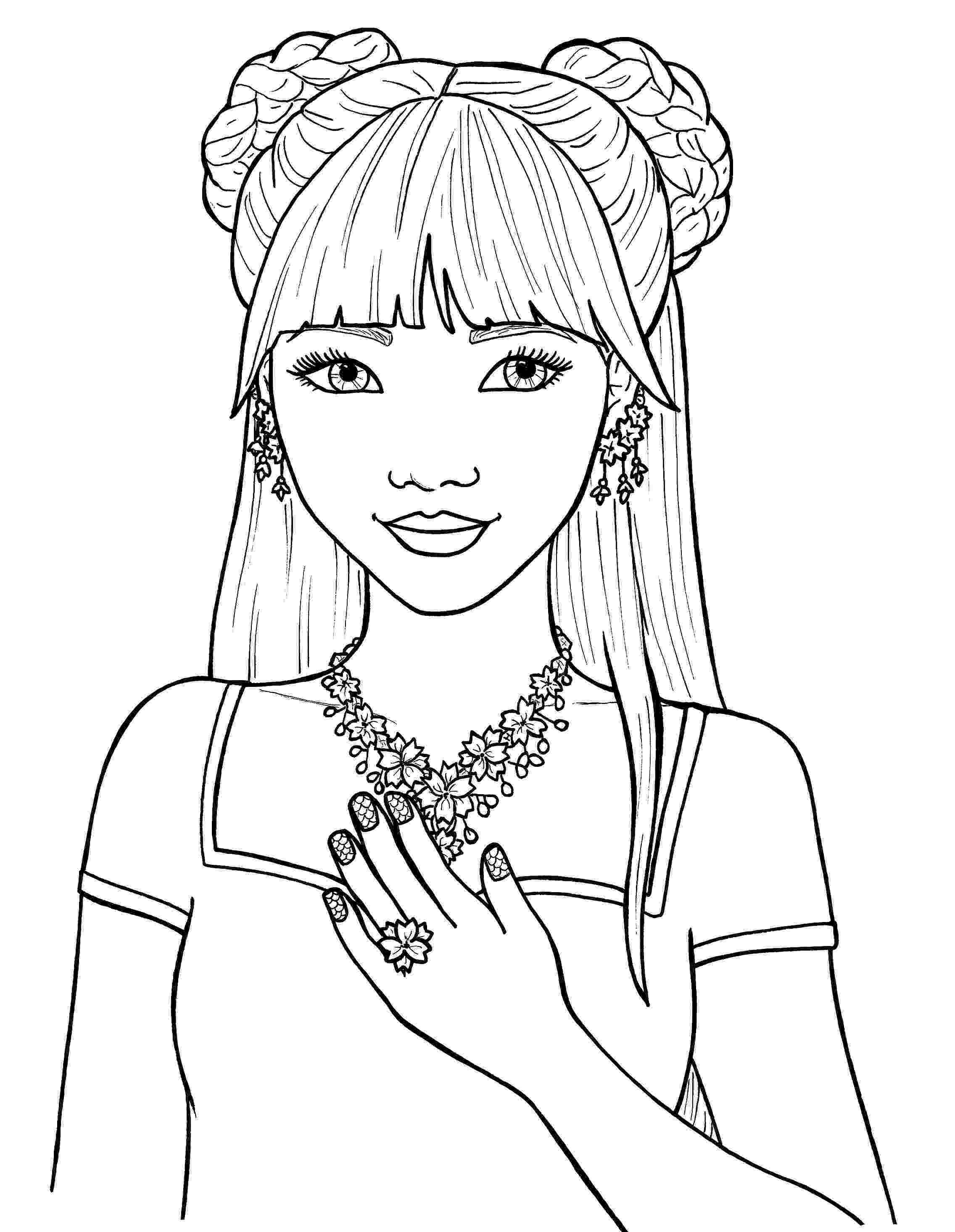 pretty pictures to color coloring page pretty haircut color pretty pictures to