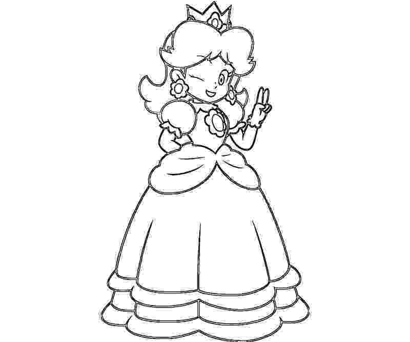 princess daisy princess daisy coloring pages at getdrawings free download princess daisy
