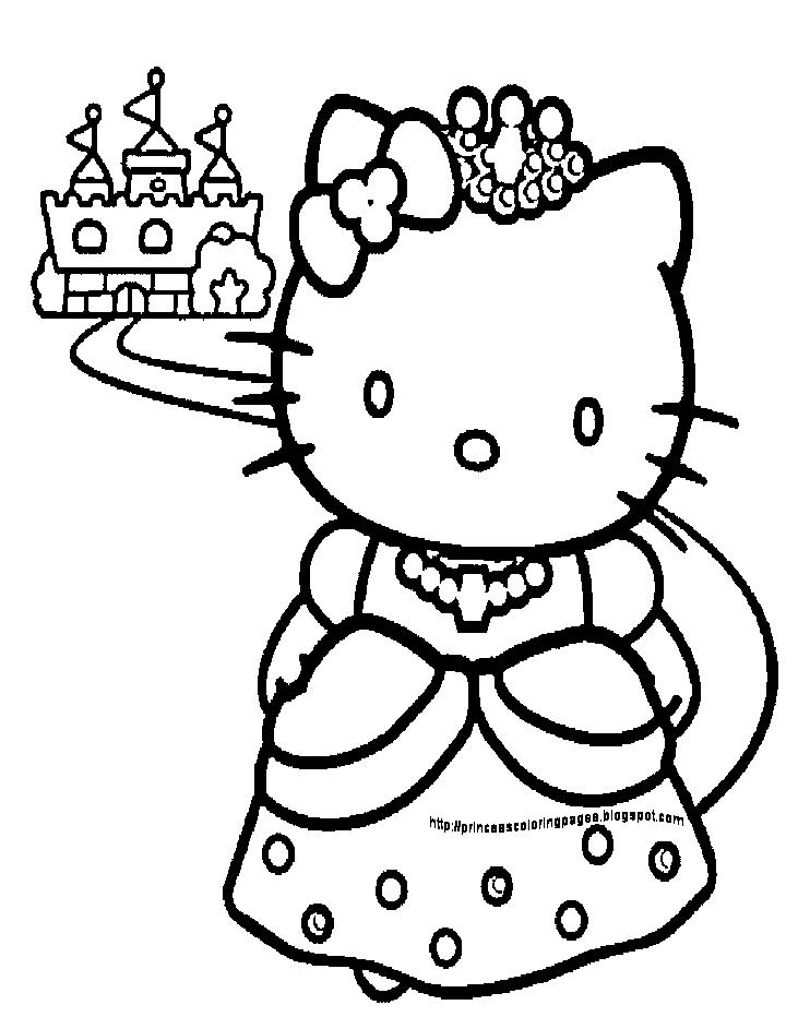 princess hello kitty coloring pages cara mewarna colours c hello princess coloring pages kitty