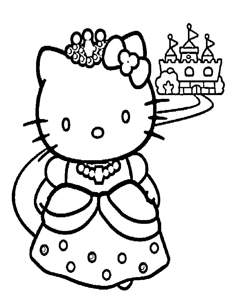 princess hello kitty coloring pages princess coloring pages hello kitty coloring princess pages