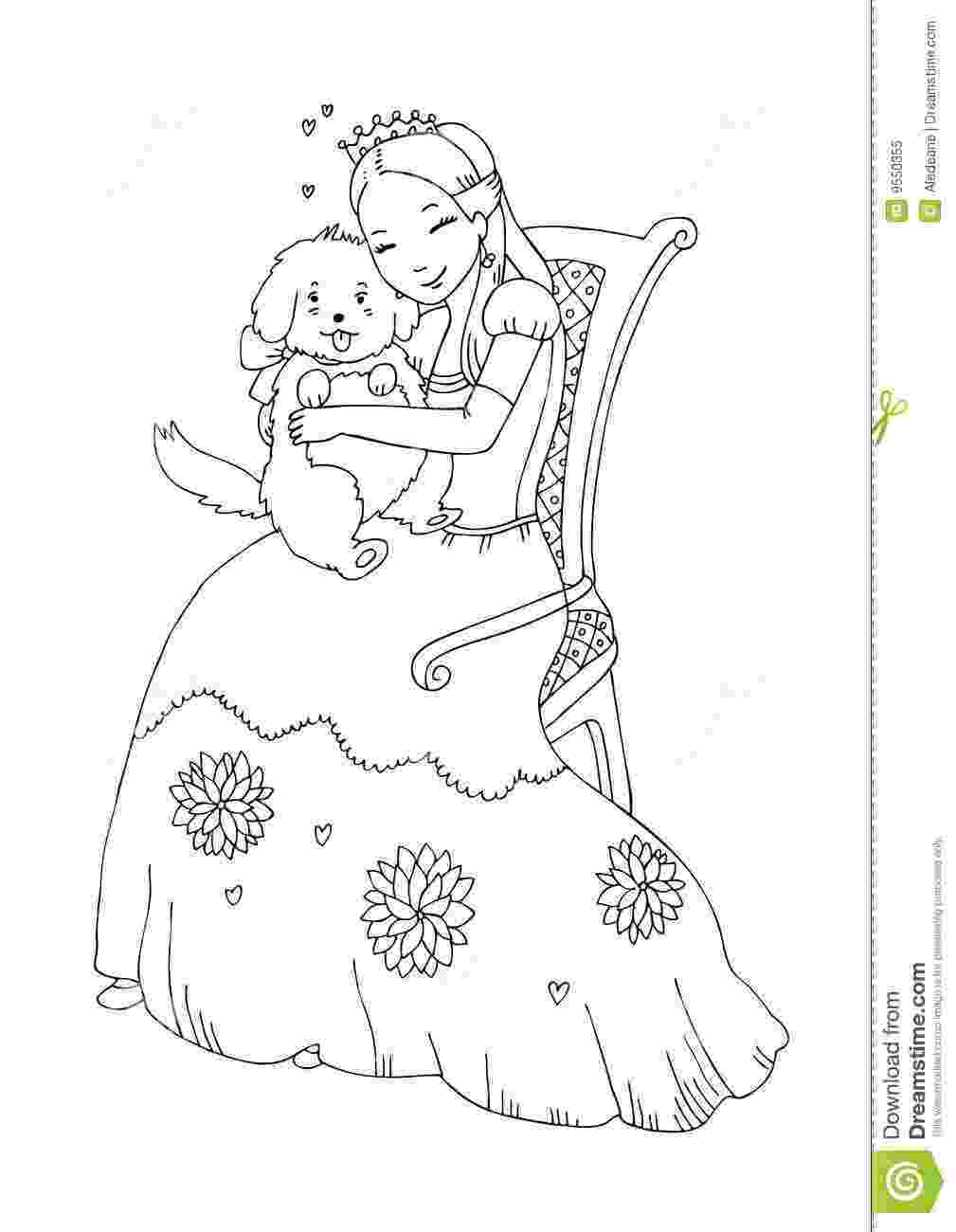 princess puppy coloring pages disney pets coloring pages download and print for free puppy princess coloring pages